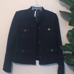 Willow and Clay Frayed Edge Tweed Jacket blazer